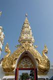 Traditional thai style art of entrance in temple, Thailand Stock Photos