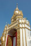 Traditional thai style art of entrance in temple, Thailand Stock Photography