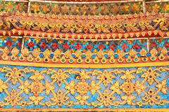 Traditional Thai style art gold Royalty Free Stock Photos