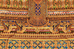 Traditional Thai style art gold painting pattern Royalty Free Stock Images