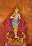 Traditional Thai style art painting Royalty Free Stock Photos