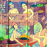 Traditional Thai style art stories of religion Stock Photo
