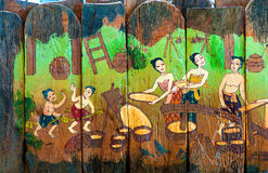 Traditional Thai style art stories of religion Stock Image