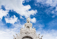 Traditional Thai style art of stucco on  The City Pillar  Shrine Stock Photos