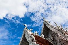 Traditional Thai style art of stucco on  The City Pillar  Shrine Royalty Free Stock Photos