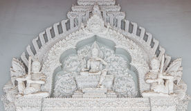 The Traditional Thai style art of stucco in  The City Pillar  Shrine Royalty Free Stock Image
