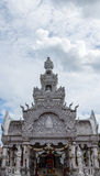 Traditional Thai style art of stucco on  The City Pillar  Shrine Stock Photos