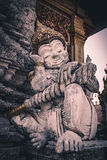 Traditional Thai style art of stucco in temple. Royalty Free Stock Photos