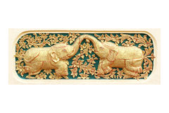Traditional Thai style art of stucco 12 zodiac Stock Images