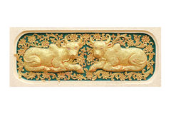 Traditional Thai style art of stucco 12 zodiac Stock Photography