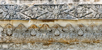 Traditional Thai style art on the temple wall Royalty Free Stock Photos