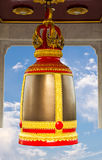 Traditional thai style bell. In thai temple stock images