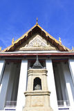 Traditional Thai style Buddhist church. The Traditional Thai style Buddhist church Royalty Free Stock Images