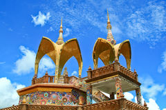 Traditional Thai style. Traditional Thai style Buddhist church temple. religion Stock Photography