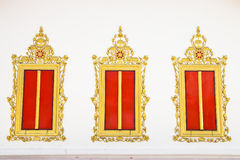 Traditional Thai style Buddhist church window Stock Images