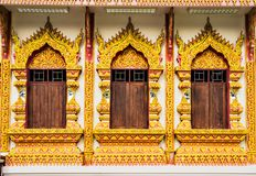 Traditional Thai style Buddhist Temple. Traditional Thai style Buddhist Temple in Chiangmai Thailand Stock Images