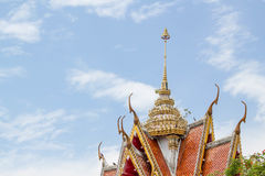Traditional Thai style buddhist temple gate Stock Image