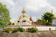 Traditional Thai style buddhist temple Royalty Free Stock Photos