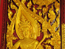 Traditional Thai style carving Stock Photography