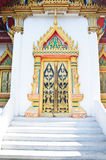 Traditional Thai style carving and painting art Royalty Free Stock Photography