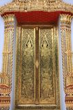 Traditional Thai style chruch door Stock Images