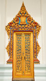 Traditional Thai Style Church Door Royalty Free Stock Photography