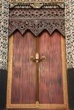 Traditional Thai style church door Stock Photo