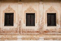 Traditional Thai style church window Royalty Free Stock Photo