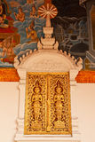 Traditional Thai style church window Royalty Free Stock Photos