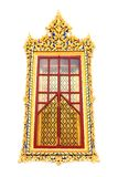Traditional Thai style church window Stock Images