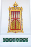 Traditional Thai style church window. In Wat  Ratchanatdaram Stock Photography