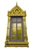 Traditional Thai style church window. In The Emerald Buddha temple, Bangkok, Thailand Stock Photography
