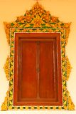 Traditional Thai style church window Stock Photo