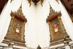 Traditional Thai style church windows Royalty Free Stock Photo