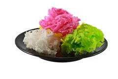 Traditional Thai style colorful dessert Stock Image