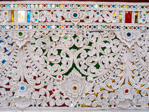 Traditional Thai style decorative wall Royalty Free Stock Photography