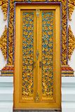 Traditional Thai style on door Royalty Free Stock Images