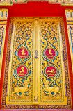 Traditional Thai style door temple Stock Photography
