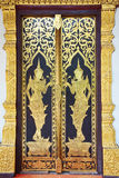 Traditional Thai style door temple. Chaingmai Province, Thailand Royalty Free Stock Photos