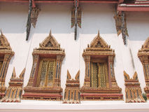 Traditional Thai Style of facade decoration Royalty Free Stock Photos