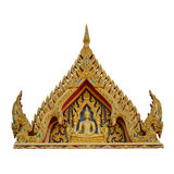 Traditional Thai style  front of temple' s roof Stock Photo