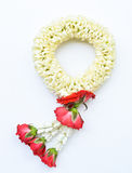 Traditional thai style garland on white background. Traditional thai style garland isolate on white background Stock Photo