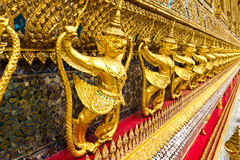 Traditional thai style garuda statue. In grand palace royalty free stock images