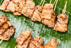 Traditional Thai style grilled pork Royalty Free Stock Photo