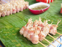 Traditional Thai style grilled pork Royalty Free Stock Photos