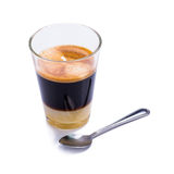 Traditional Thai style hot coffee  on white background. Stock Photos