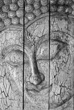 Traditional Thai style Lord Buddha's face Stock Image
