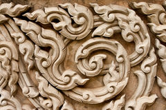 Traditional Thai style molding art Stock Photography