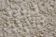 Traditional Thai style molding art Stock Images