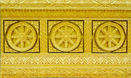 Traditional Thai style molding art Royalty Free Stock Photo